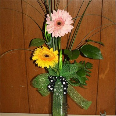 Double Gerbera Vase All About Flowers